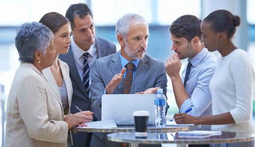 Besprechung im Unternehmen